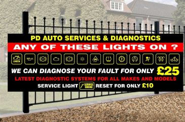 Engine Diagnostics Banner with Company Name